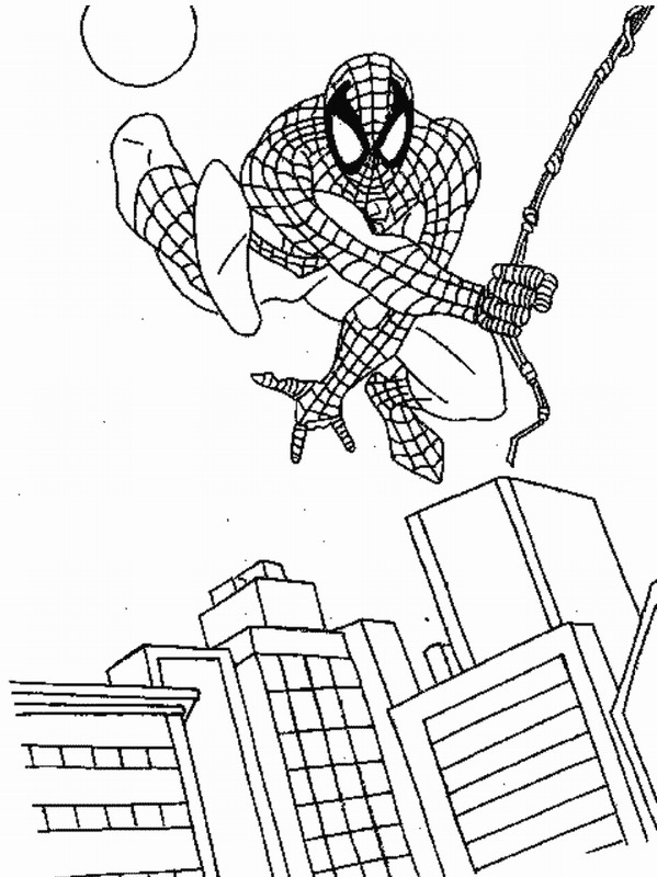 F rgl ggning f r barn spider man for Baby spiderman coloring pages