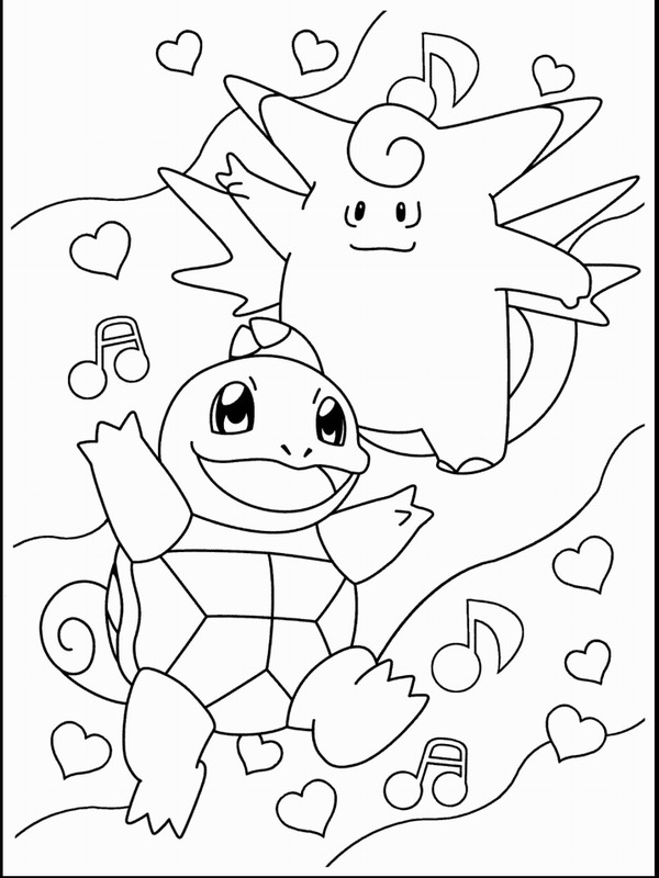 Coloring for barn - Pokemon.